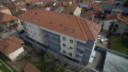 Solunska br. 9 (širi centar Čačka) P+3 ; 36 stanova,3 lokala,podz. garaza